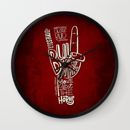 Mess With The Bull (red) Wall Clock