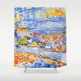 Hills & Houses Shower Curtain