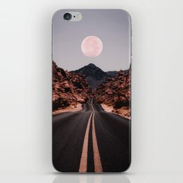 Road Red Moon iPhone Skin