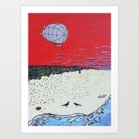 Silver Airship Discovery Art Print