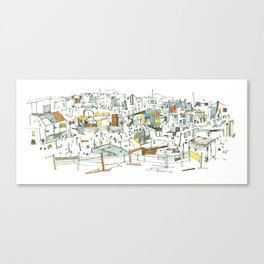the allotments Canvas Print