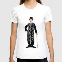 charlie chaplin T-shirts featuring Charlie Chaplin by Ayse Deniz