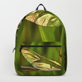 Dragonfly In Brown And Yellow Backpack