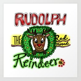 Rudolph the Reindeer Art Print