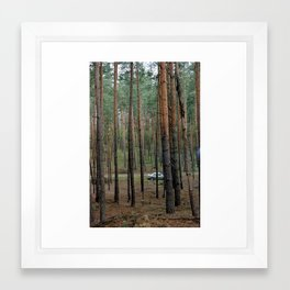 Forest & Car Framed Art Print