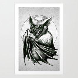 Bloodlust - Black and white Art Print