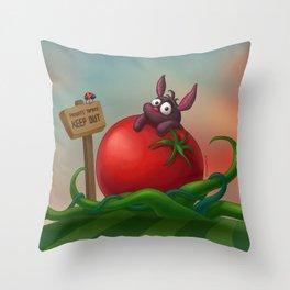 Tomato Bunny Throw Pillow