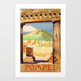 Vintage Pompei Italy Travel Art Print