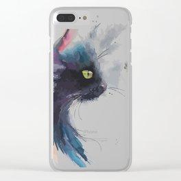 A cat profile Clear iPhone Case