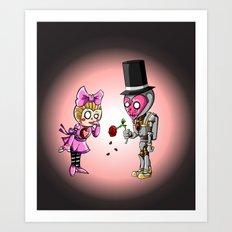 Rose for my sad Valentine Art Print