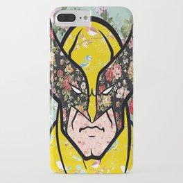 Floral (Wolverine)James Logan Howlett iPhone Case