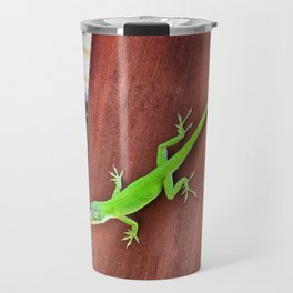 Green Anole Travel Mug