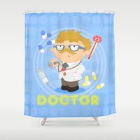 doctor Shower Curtains featuring Doctor by Alapapaju