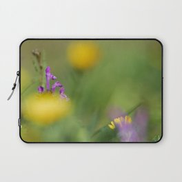 Purple, yellow and green bokeh Laptop Sleeve