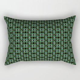 Egg green and blue Bow 03 Rectangular Pillow