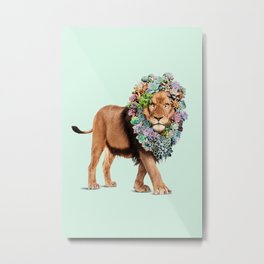 SUCCULENT LION Metal Print