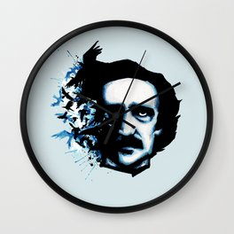 Edgar Allan Poe Crows Wall Clock