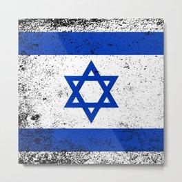 Flag of Israel Metal Print