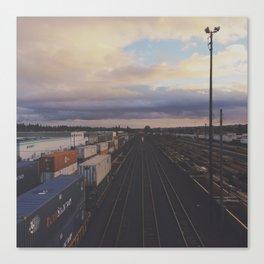 Brooklyn Train Yard - Portland Oregon Canvas Print