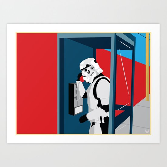 Stormtrooper Phone Home Art Print