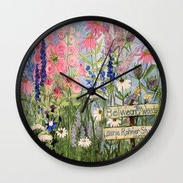Flowers Garden Acrylic Painting Wall Clock