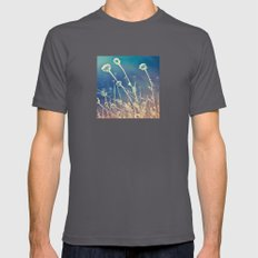Blue and day  Mens Fitted Tee Asphalt LARGE