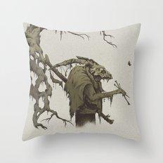 old bones Throw Pillow