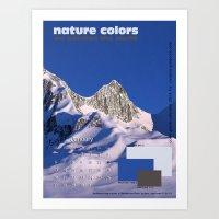 nature colors calendar January 2014 Art Print