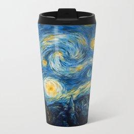 A Starry Night at Hogwarts Metal Travel Mug