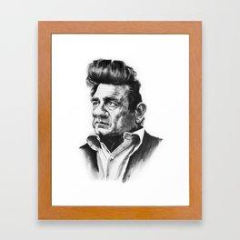 Caricature of Johnny Cash Framed Art Print