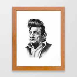 Caricature of Johnny Cash Framed Art Print