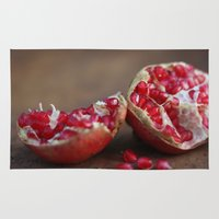 pomegranate Area & Throw Rugs featuring pomegranate by Life Through the Lens