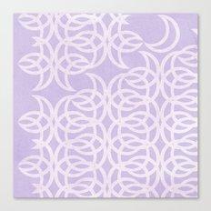 Purple Lunar Canvas Print