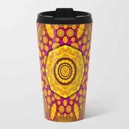 Sunshine Mandala and other golden planets Travel Mug
