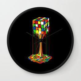 Rainbow melted rubix cube iPhone 4 5 6 7 8, pillow case, mugs and tshirt Wall Clock
