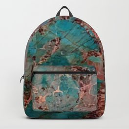Marble Turquoise Blue Backpack