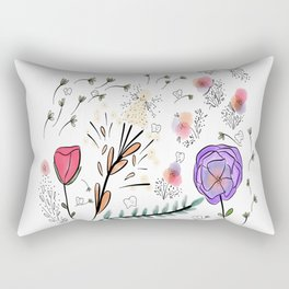 Flowers and Teeth Rectangular Pillow