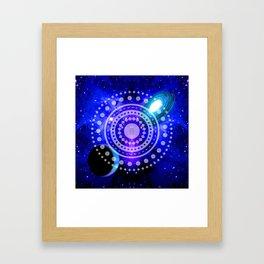 Electric blue universe Framed Art Print