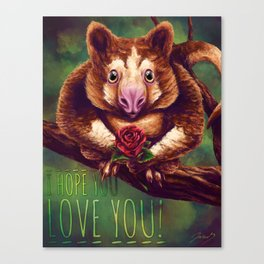A bit of Tree Kangaroo Love Canvas Print