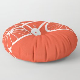 Red Bike by Friztin Floor Pillow