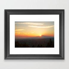 Autumn Sunrise Over Portland Framed Art Print