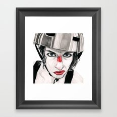 Battle Scarred Rollergirl Framed Art Print