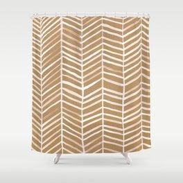 Kraft Herringbone Shower Curtain
