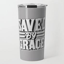 Saved by Grace through Faith Lettering Travel Mug
