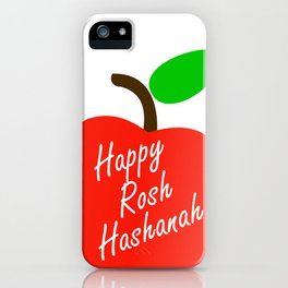 Rosh Hashanah inside an red apple or Jewish Near year greetings iPhone Case