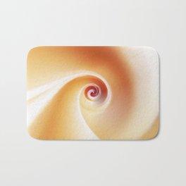 Orange Cream Swirl Bath Mat