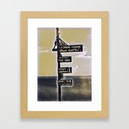 Sign in Koh samui Framed Art Print
