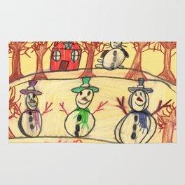 Snowman Contest Rug