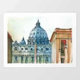 Scorcio di S. Pietro Art Print