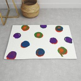 Painted Circles Layered Rug